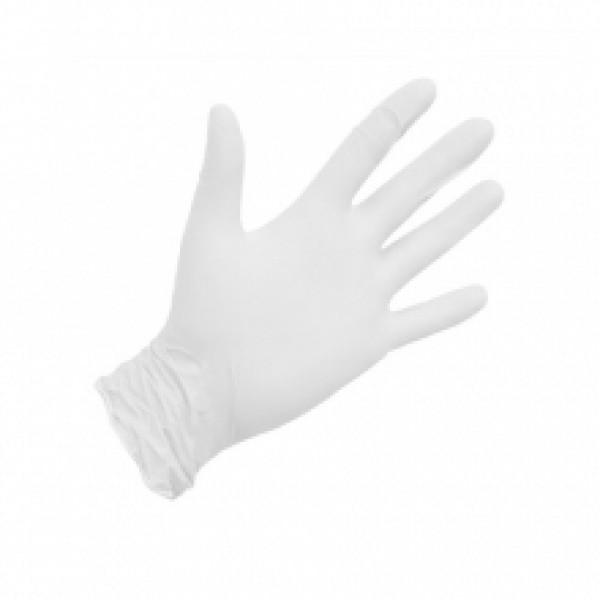 NitriMAX белые смотровые перчатки,размер L(50 пар)