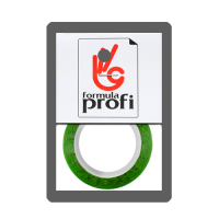 Нить для дизайна ногтей на клеевой основе, цв.зелёный