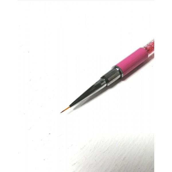 Кисть розовая,стразы 7 мм
