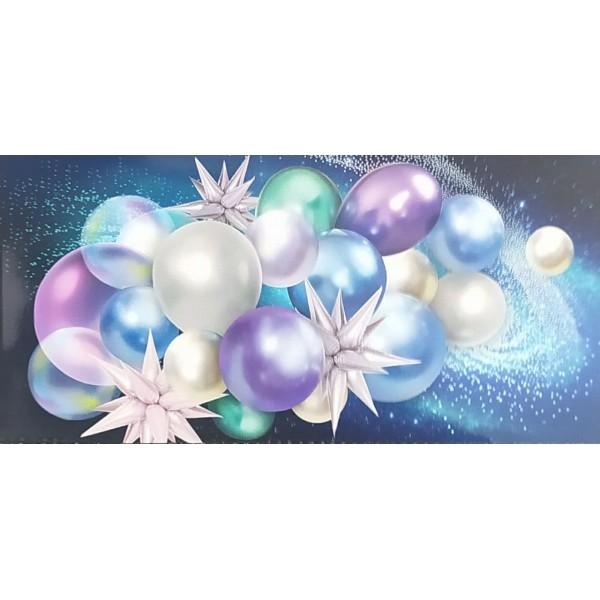 Конверт для денег синий с шарами