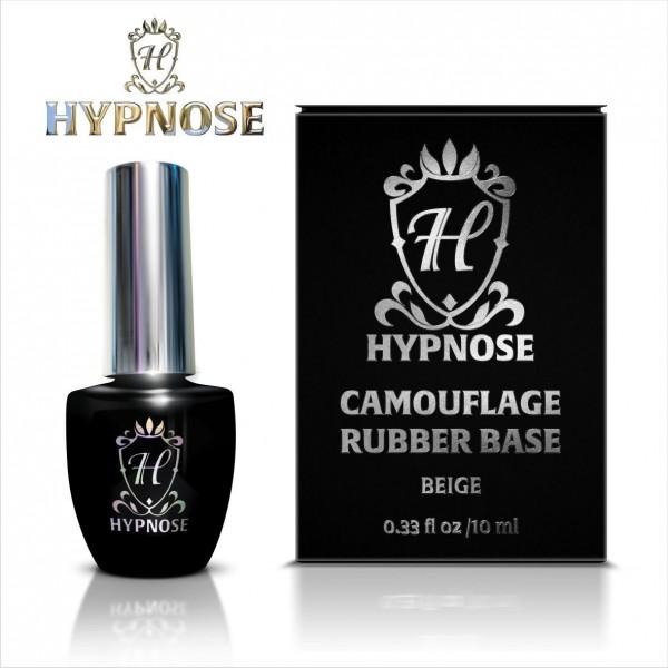 Камуфлирующее базовое покрытие для гель-лака Hypnose Rubber Camouflage Base №1, Beige - бежевая, 10 мл