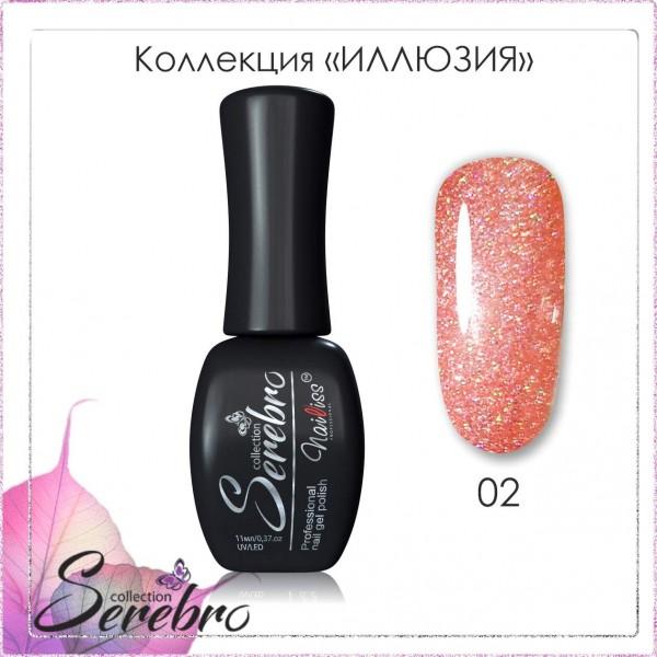 "Гель-лак ""Иллюзия"" ""Serebro collection"" №02, 11 мл"
