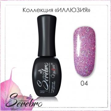 "Гель-лак ""Иллюзия"" ""Serebro collection"" №04, 11 мл"
