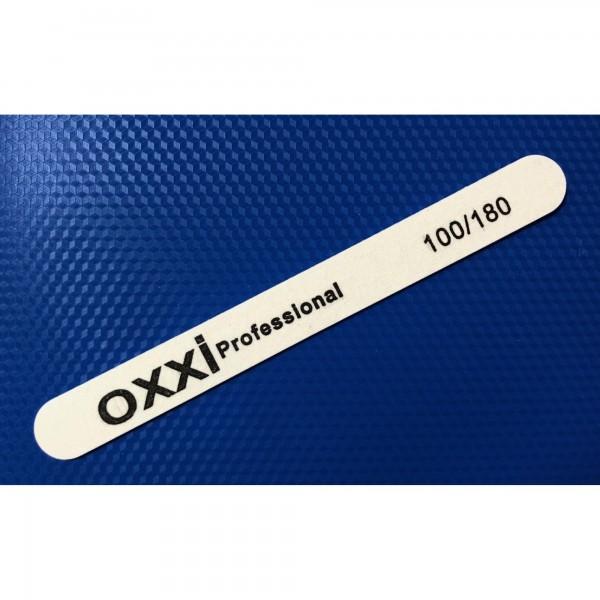Пилка тонкая OXXI pofessional на деревянной основе 100/180