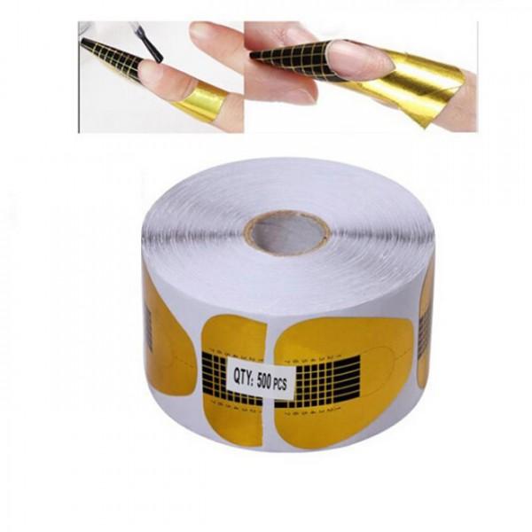 Бумажные формы для наращивания широкие 500 шт