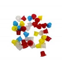 Колпачки под краску цветные (8мм),50 шт