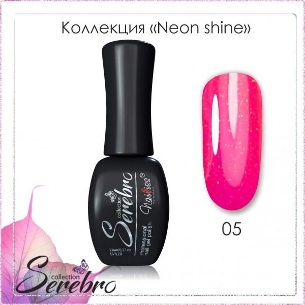 """Гель-лак Neon shine """"Serebro collection"""" №05, 11 мл"""