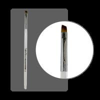 Кисть гелевая с прозрачной ручкой №5 скошенная
