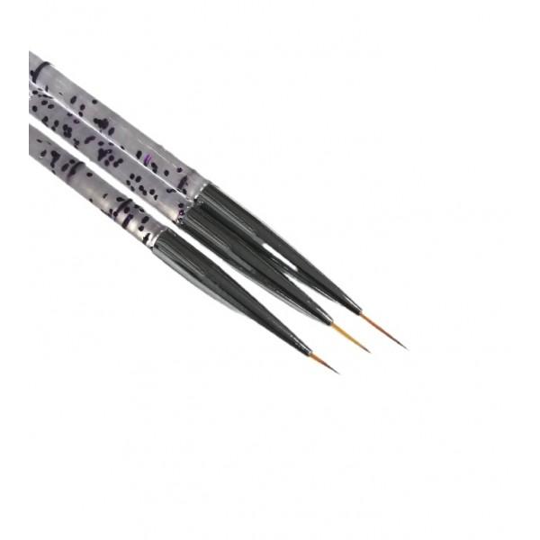 Кисть для прорисовки №1,10 мм (фиолет капли)