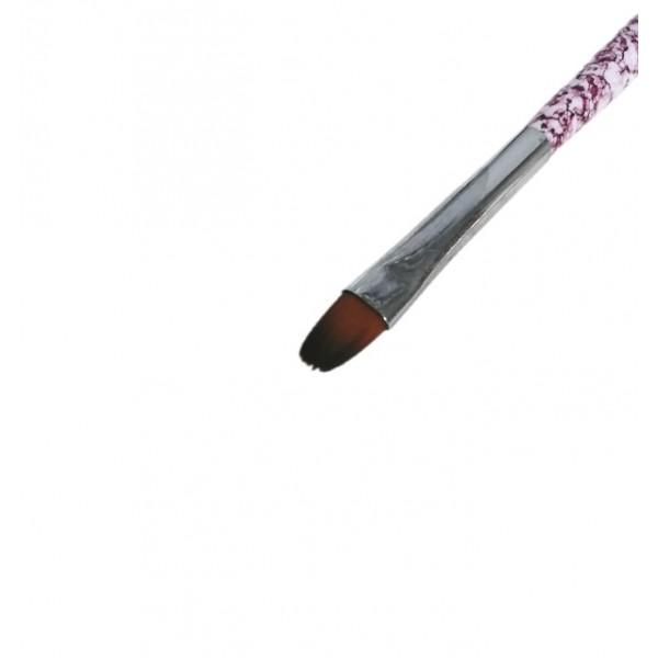Кисть для геля №6 розовая
