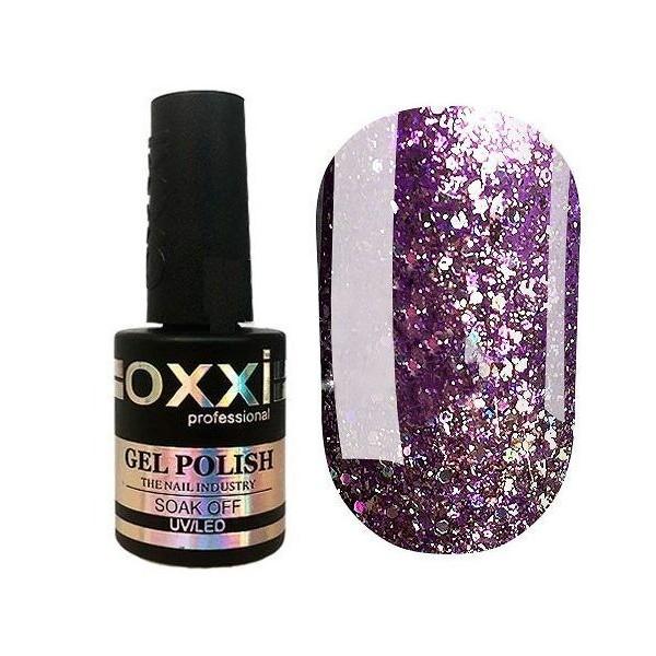Гель лак Oxxi Star Gel №005 (Сиреневый , с блестками и слюдой ) , 8 мл