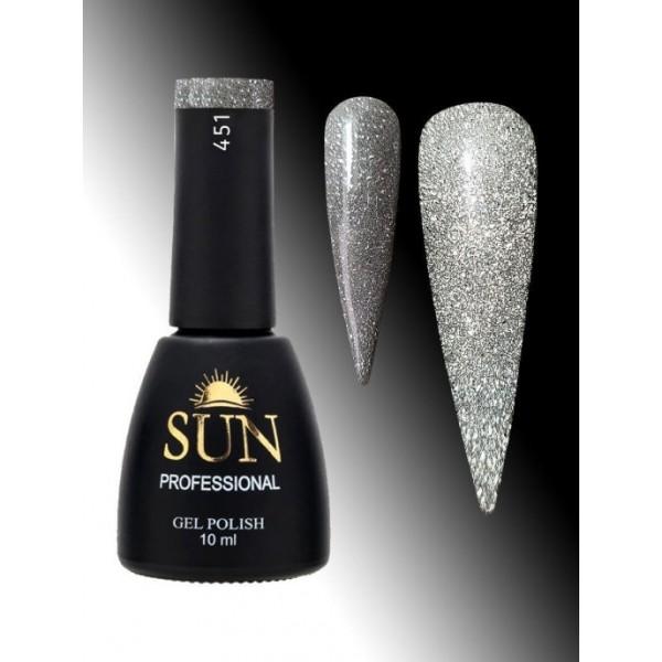 SUN Professional Светоотражающий гель-лак № 451,10мл
