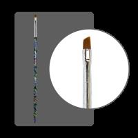 Кисть  для китайской росписи с цветной ручкой скошенная № 3