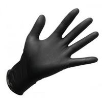 Перчатки нитриловые, черные М 50 пар