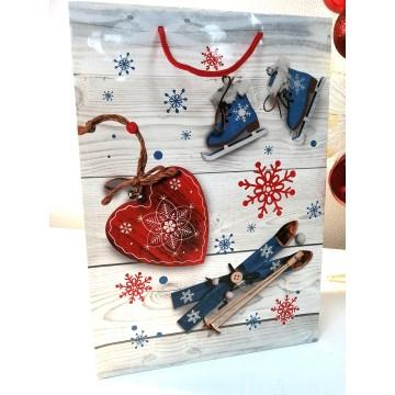 Пакет подарочный,зима