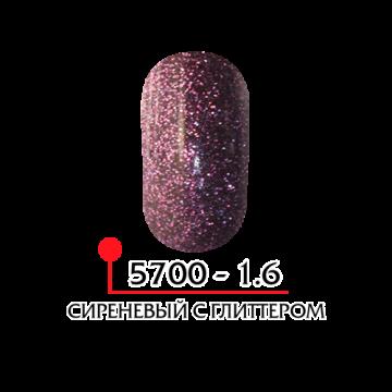 ФП Цветная акриловая пудра № 1.6 сиреневый с глитером, 3г