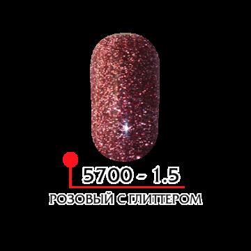 ФП Цветная акриловая пудра № 1.5 розовый с глитером, 3г
