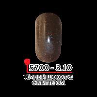 ФП Цветная акриловая пудра № 3.10 темный шоколад с глитером, 3г