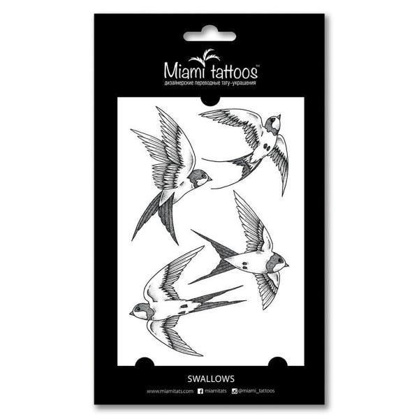 Miamitats Переводные тату Swallows