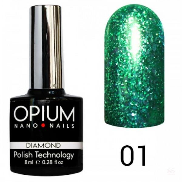 гель лак OPIUM DIAMOND 8ml.№001