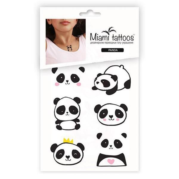 Miamitats Переводные мини-тату Panda