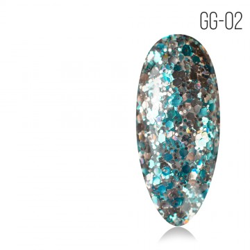 Гель-лак. Коллекция «Glitter Gel» № 02