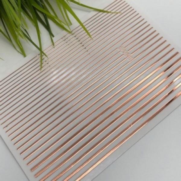 Гибкая лента для дизайна ногтей, розовое золото