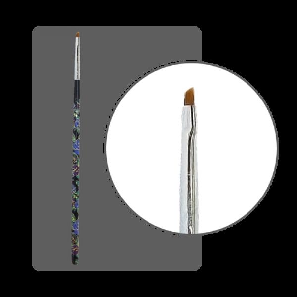 Кисть  для китайской росписи с цветной ручкой скошенная № 1