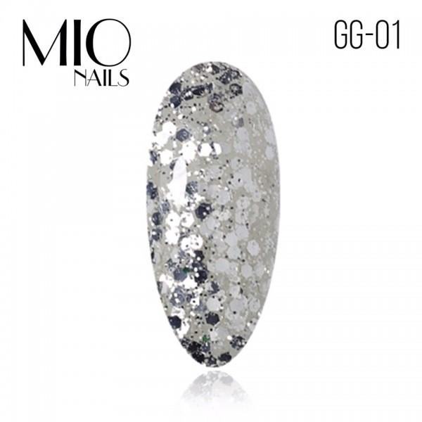 MIO Гель-лак. Коллекция «Glitter Gel» № 01