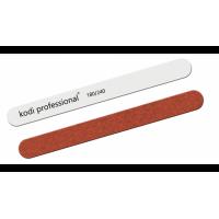 KODI Пилка прямая «Garnet» (цвет: белый/коричневый) 180/240 грит
