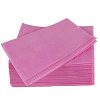 Салфетки защитные для стола двухслойные 33см х 45см(розовые)