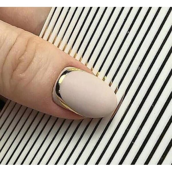 Гибкая лента для дизайна ногтей,золото