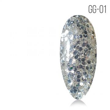 Гель-лак. Коллекция «Glitter Gel» № 01