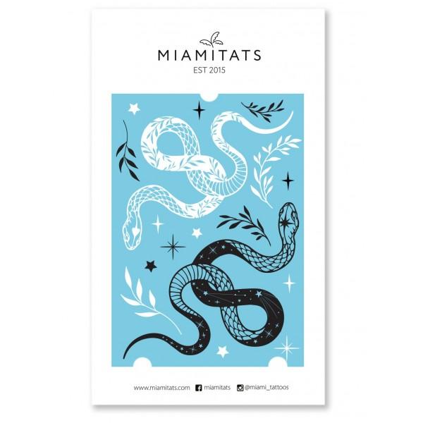 Miamitats Переводные тату Black&White snakes
