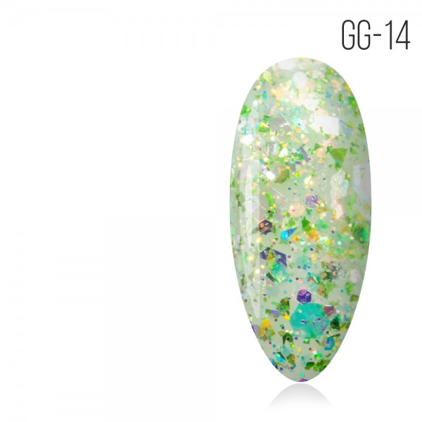 Гель-лак. Коллекция «Glitter Gel» № 14