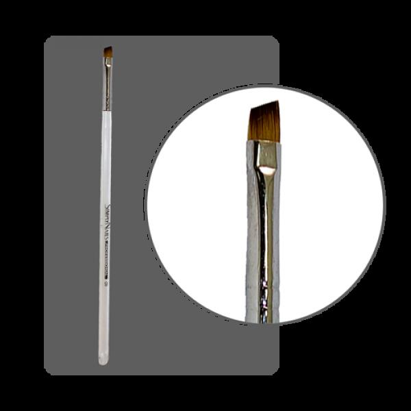Кисть гелевая с прозрачной ручкой №8 скошенная