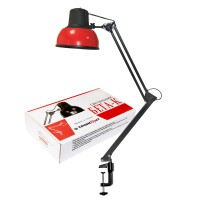 Светильник Бета-К ( на струбцине) настол., 60Вт, без лампы, ЛОН, Е27,красный