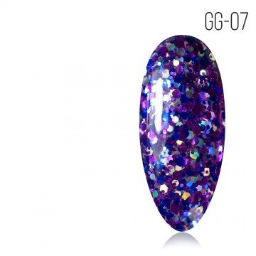 Гель-лак. Коллекция «Glitter Gel» № 07