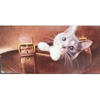 Конверт для денег,серый котик