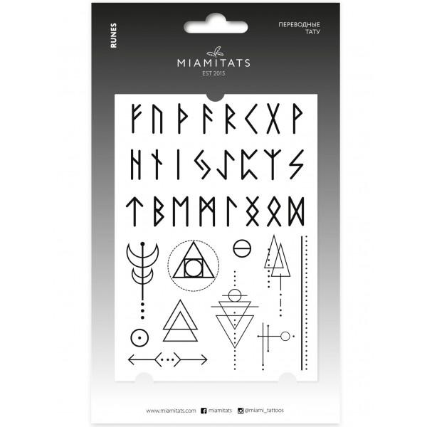 Miamitats Переводные тату Runes