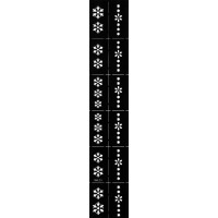 Трафарет виниловый для дизайна ногтей NK-20