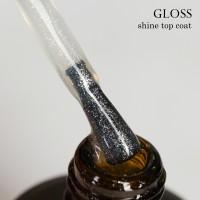 Топ Gloss с мерцанием Shine top coat, 15 ml