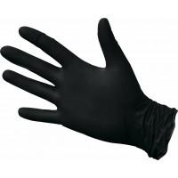NitriMAX черные смотровые перчатки,размер L (50 пар).плотные