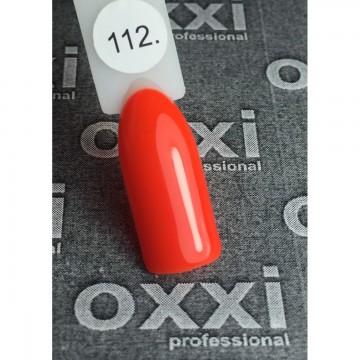 Гель лак Oxxi №112 (яркий красно-оранжевый, неоновый), 8 мл