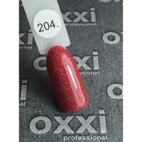 Гель лак Oxxi №204 (светлый красный с мелкими насыщенными голографическими блестками), 8 мл