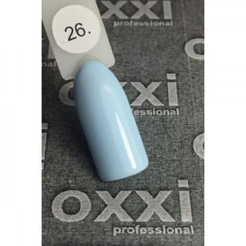 Гель лак Oxxi №026 (светлый голубой, эмаль),10 ml