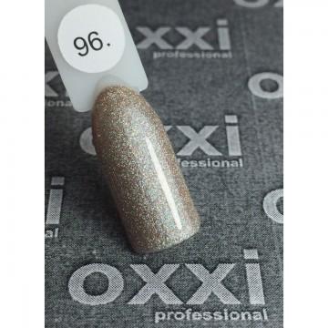 Гель лак Oxxi №096 (светлый бежевый с насыщенными мелкими голографическими блестками), 8 мл